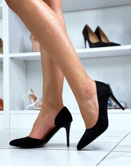 Escarpins à talon noirs ouverts