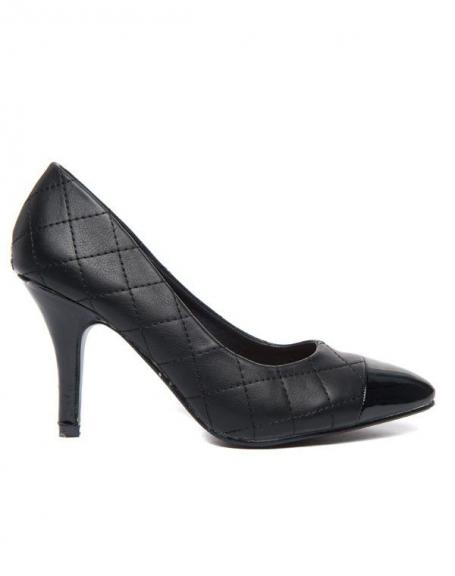 Escarpins Alicia Shoes surpiqûres effet capitonné noirs
