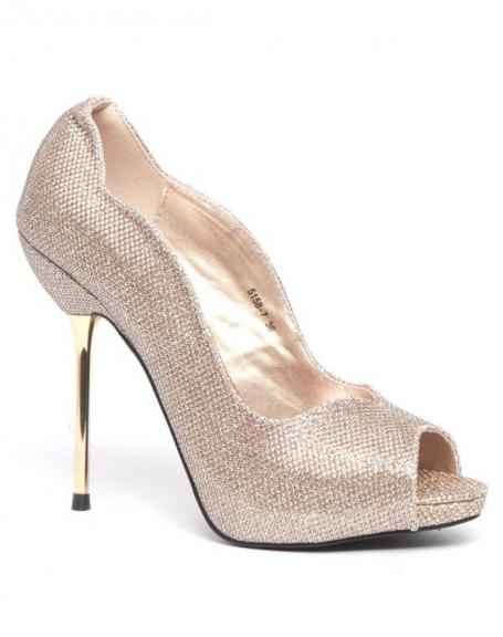 Escarpins dorée femme Like Style à talons stiletto or