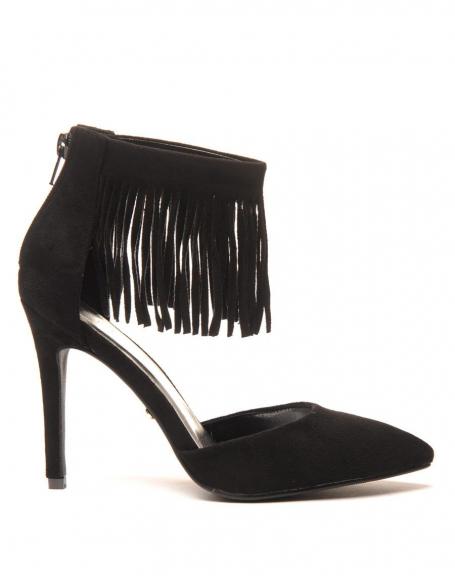 Escarpins noirs avec franges