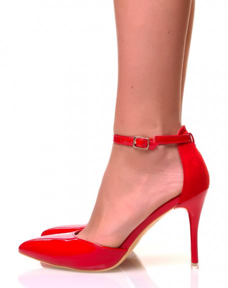 Escarpins rouges à bride de cheville