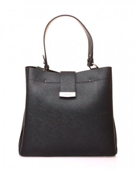 Gand sac à main noir à lanière aimante