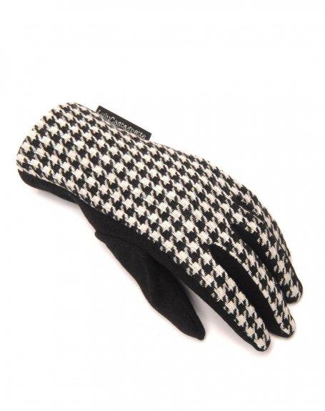 gants motif pied de poule lulucastagnette. Black Bedroom Furniture Sets. Home Design Ideas