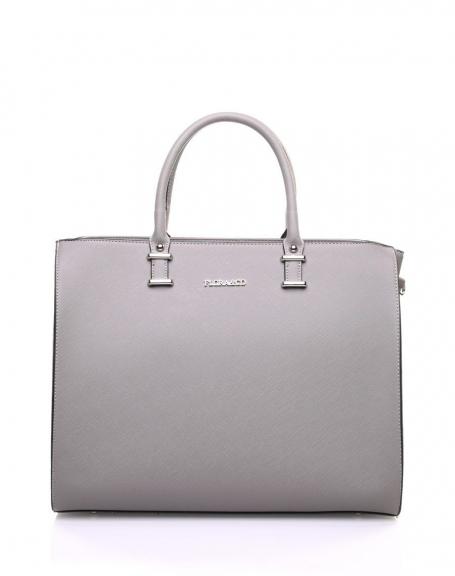 e3136359c4843 Grand sac à main gris