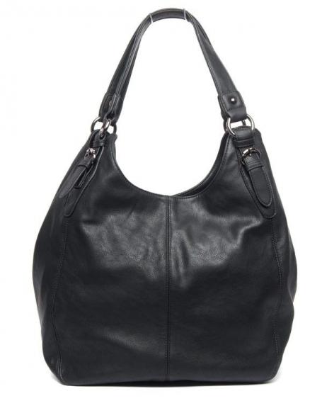 Grand sac à main rond Nanucci de couleur noire