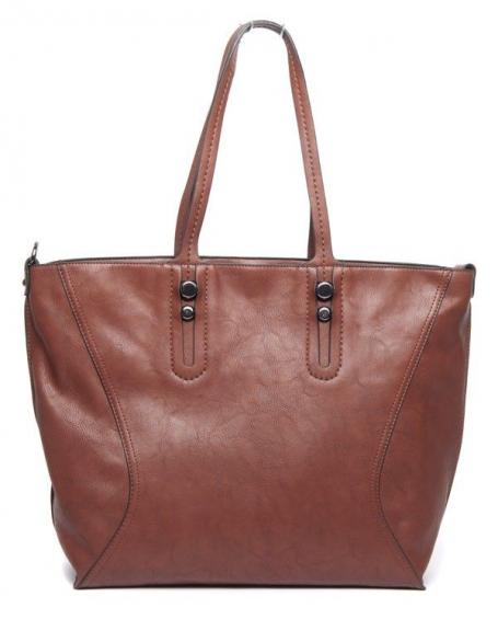 Grand sac femme cuivre Flora&Co doublure effet daim