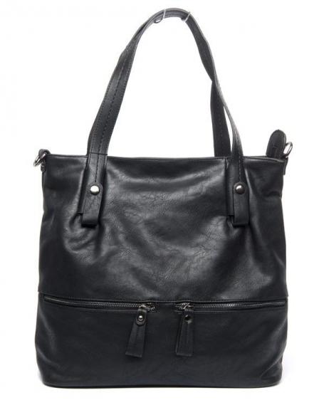Grand sac femme noir Flora & Co avec trousse