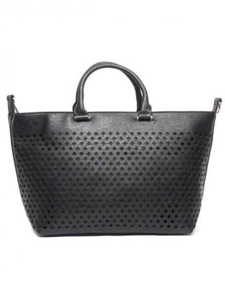 Grand sac shopping Be Exclusive noir, poinçons