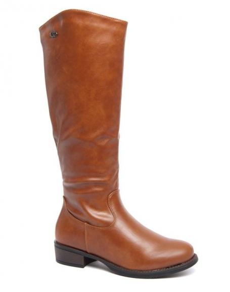 Grandes bottes classique Style Shoes camel