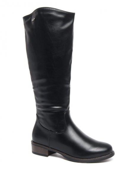 Grandes bottes classique Style Shoes noire