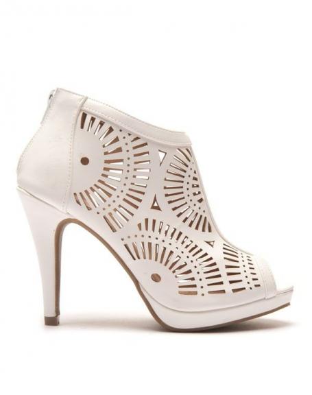 design exquis original détaillant Low boots d'été ajourées blanches