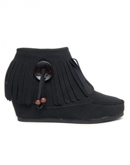 Mocassins compensés femme Style Shoes noirs