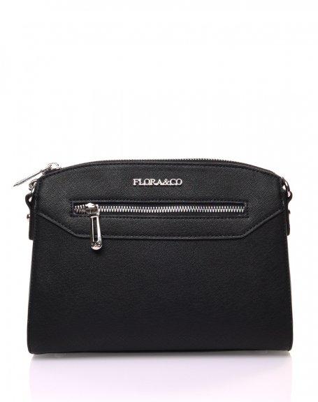 Petit sac bandoulière rectangulaire texturé noir