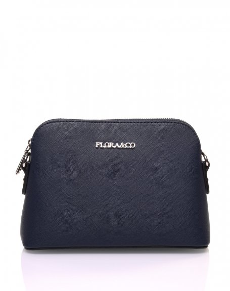 Petit sac bandoulière texturé bleu marine