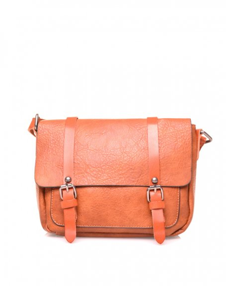 Petit sac bandoulière vintage camel