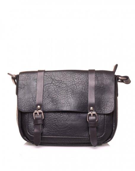 Petit sac bandoulière vintage noir