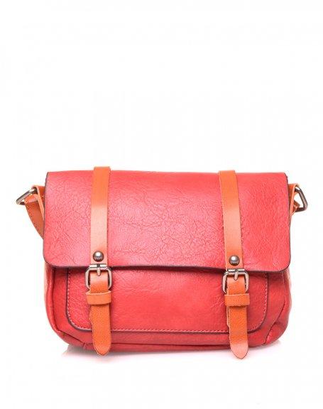 Petit sac bandoulière vintage rouge