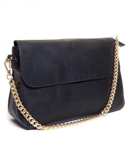 Petit sac femme Be Exclusive: sac à main noir style cartable