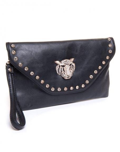 Pochette femme Be Exclusive: Pochette enveloppe noire