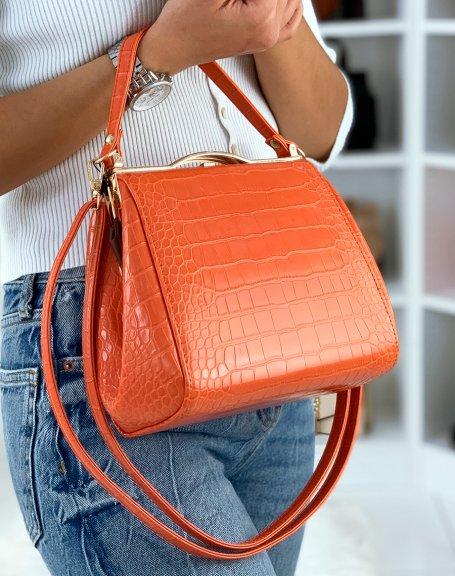 Sac à main rétro style porte-feuille orange