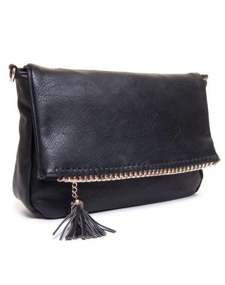 Sac femme Be Exclusive: Petit sac noir avec chainette dorée