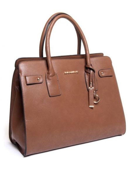 Sac femme Be Exclusive: sac à main grand format taupe
