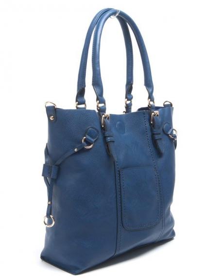 Sac femme Flora&Co: Grand sac à main bleu royal