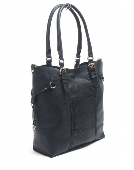 Sac femme Flora&Co: Grand sac à main noir