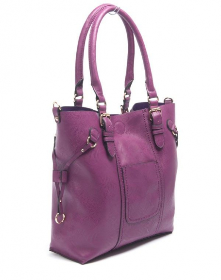 Sac femme Flora&Co: Grand sac à main violet