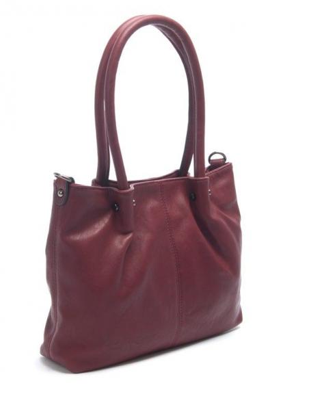 Sac femme Flora&Co: Petit sac à main bordeaux