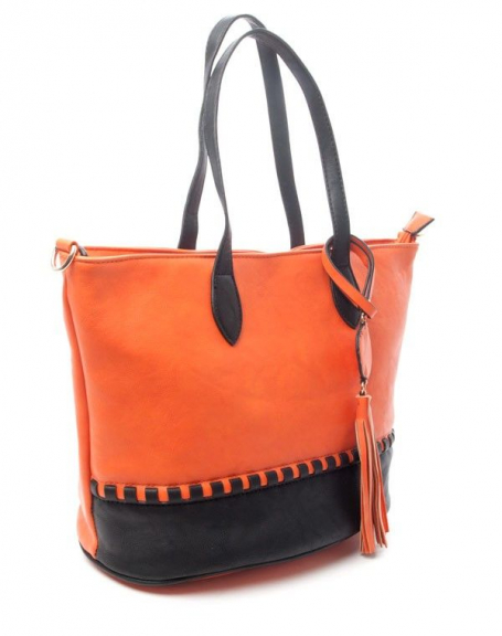 Sac femme Flora & Co: Sac à main bicolore - orange