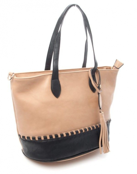 7042431fb9 Sac femme Flora & Co: Sac à main bicolore - taupe