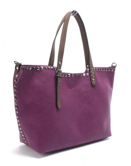 Sac femme Flora&Co: Sac à main clouté violet