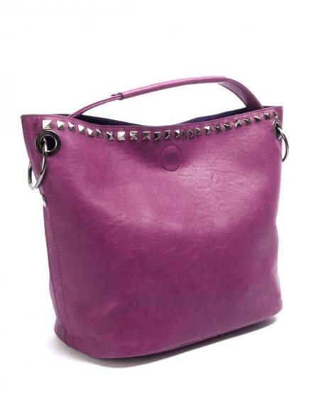 Sac femme Flora & Co: Sac à main clouté violet