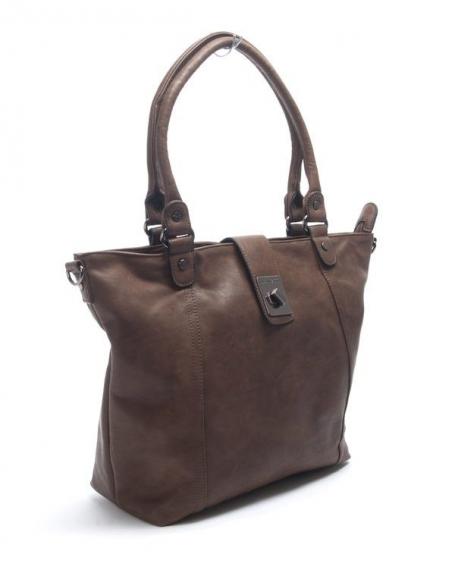 Sac femme Nanucci: Grand sac à main chocolat