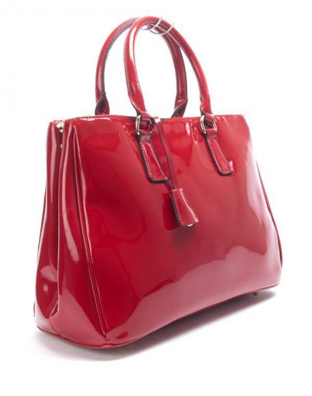sac femme nanucci sac main vernis rouge. Black Bedroom Furniture Sets. Home Design Ideas