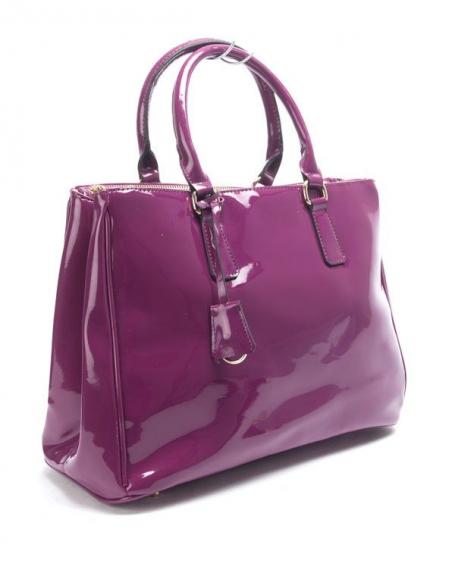 Sac femme Nanucci: Sac à main vernis violet