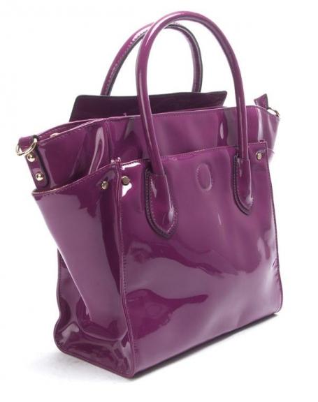 4804a8cc4e Sac femme Nanucci: Sac à main vernis violet