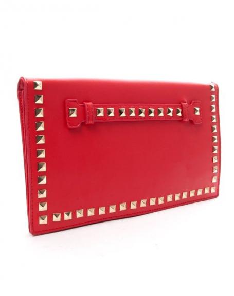 Sac femme Style Shoes: Pochette cloutée rouge