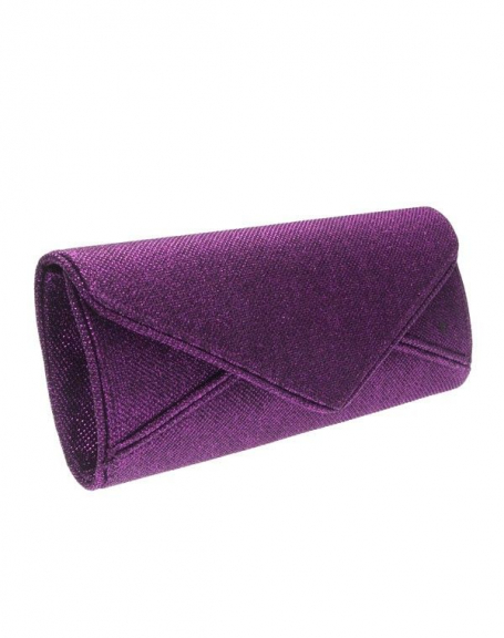 Sac femme Style Shoes: Pochette de soirée violet