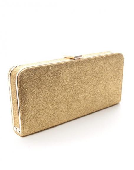 Sac femme Style Shoes: Pochette pailletée or