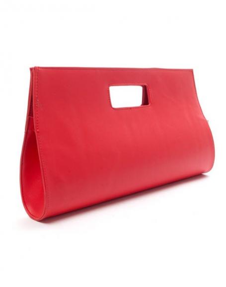Sac femme Style Shoes: Pochette rouge