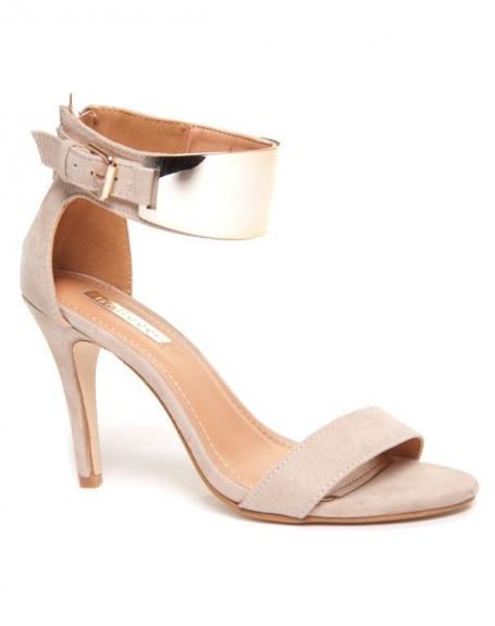 Sandale à talon beige de Bellucci