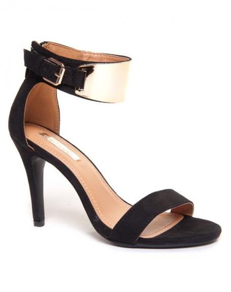 Sandale à talon noire de Bellucci