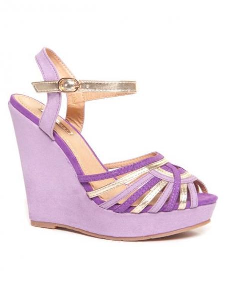 Sandale Bellucci compensée violette