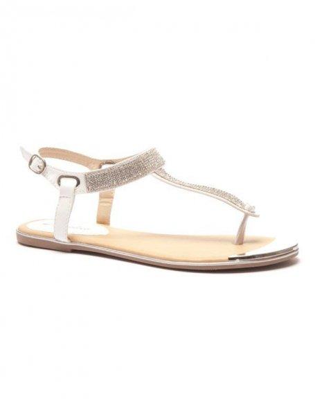 Sandales blanches à strass z70p611pR