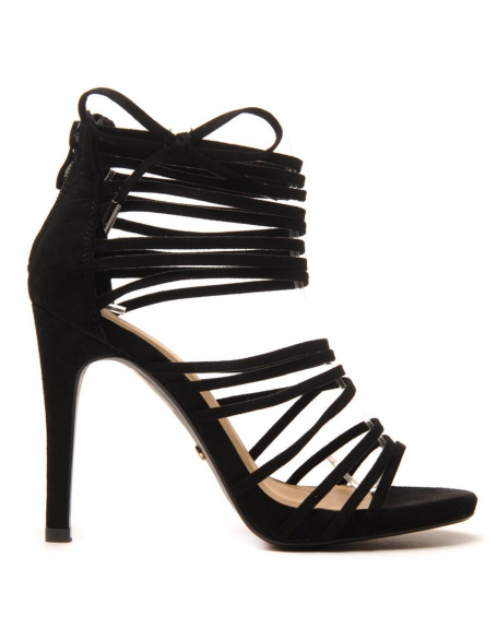 Sandales noire multi brides FWguEwLd