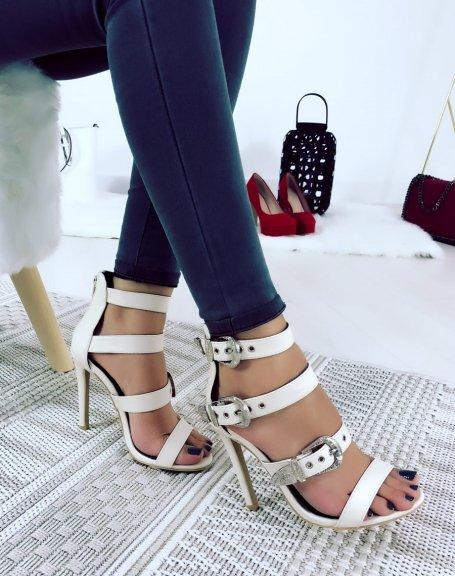 Sandales à multiples sangles beiges