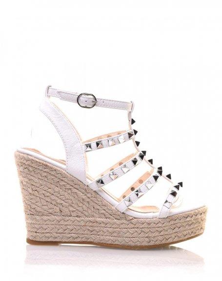 Sandales Sandales Blanches Blanches Cloutées Cloutées Compensées Compensées Blanches Compensées Cloutées Sandales Compensées Sandales PiuOkZXT