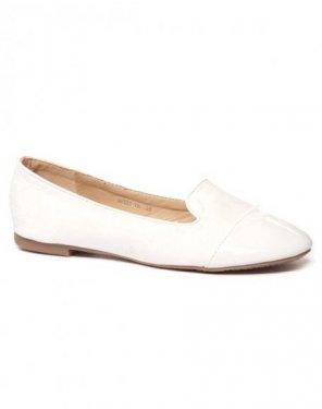 Ballerine slippers blanche bi-matière